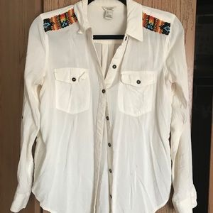 Cream Button Down Shirt